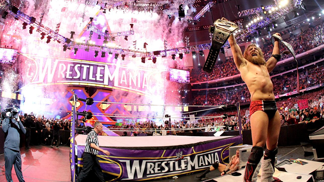 Daniel Bryan captures the WWE World Heavyweight Championships at WrestleMania 30  (Source: WWE)